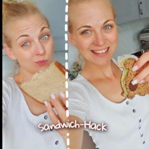 20 clevere Lunchbox-Hacks für Kindergarten und Schule Sandwich Hack mit den Ausstechformen von Northpass - Dino-Sandwich! Jetzt 10% sparen julia10