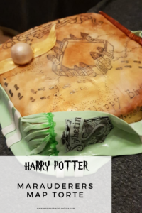 Meine Geburtstagsparty Vorbereitung | Thema Harry Potter Marauders Map Einladung Karte des Rumtreibers Einladung  Torte