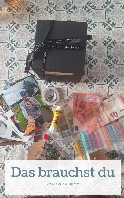 Eine Explosionsbox zur Konfirmation, Kommunion, Taufe, Geburtstag, Hochzeit oder Jugendweihe? Indeal für kleine (Geld)Geschenke und Fotos.