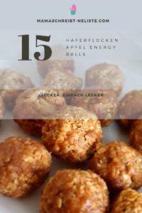 So, ich bin keine Food-Bloggerin also verzeih mir die unfoodbloggerhaften Fotos meiner vier Back-Rezepte.  Energy Balls