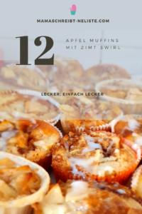 So, ich bin keine Food-Bloggerin also verzeih mir die unfoodbloggerhaften Fotos meiner vier Back-Rezepte.  Apfel Zimt Muffins