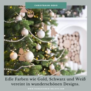 Weihnachten steht vor der Tür und die Frage nach den diesjährigen Trends scheint langsam beantwortet. In diesem Jahr heißt es edel und gemütlich. Weihnachten 2020 wird von dunklen Naturtönen, Kerzenlicht, filigranen Silber- und Goldelementen und nachhaltigen Dekoartikeln bestimmt. Ob du also noch neuen Weihnachtsbaumschmuck, Dekoartikel für die Kaminkonsole, passende Sofakissen und kuschlige Decken oder Außenbereich-Deko suchst, in diesem Jahr macht es die Mischung aus Glanz und Natürlichkeit.  Mama schreibt ne Liste Weihnachten Deko Trends