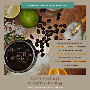 Kaffee Peeling Die perfekte Wellness-Oase für Zuhause, Entspannung, Ruhe, Balance, deine Auszeit als Mama, DIY Peeling, Orangen Peeling, Kaffee-Peeling, Badekissen, Badezusatz, Musst Waves, #1: Stimmung durch Kerzenschein und Tablett #2: Die perfekte Wellness-Playlist #3: Mehr als komfortabel - mein Badesofa #4: Naturkosmetik für die Haut - meine Top 4 Körper-Peelings #5: Aufgepimptes Wasser #6: Geschmeidigkeit dank Kokosmilch und Kaffeesatz