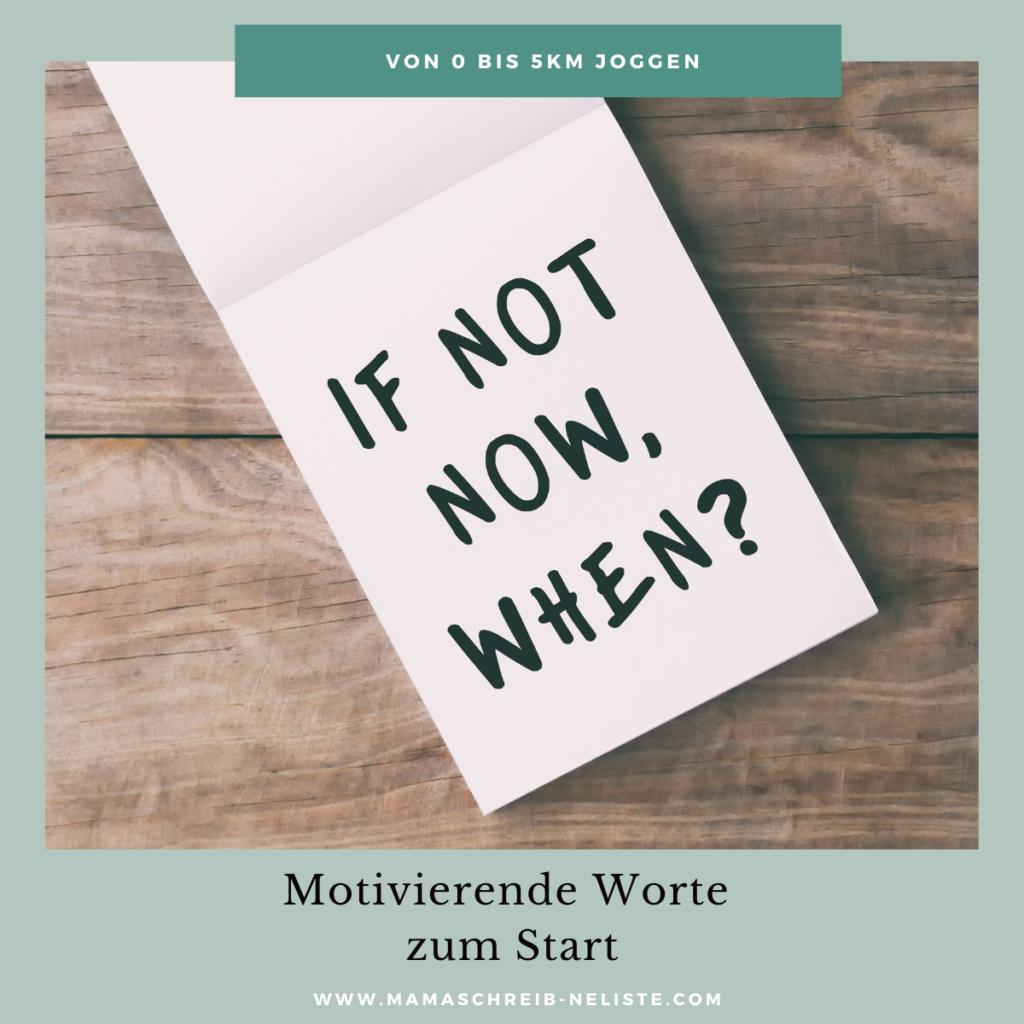 Joggen lernen hat viel mit Motivation zu tun!