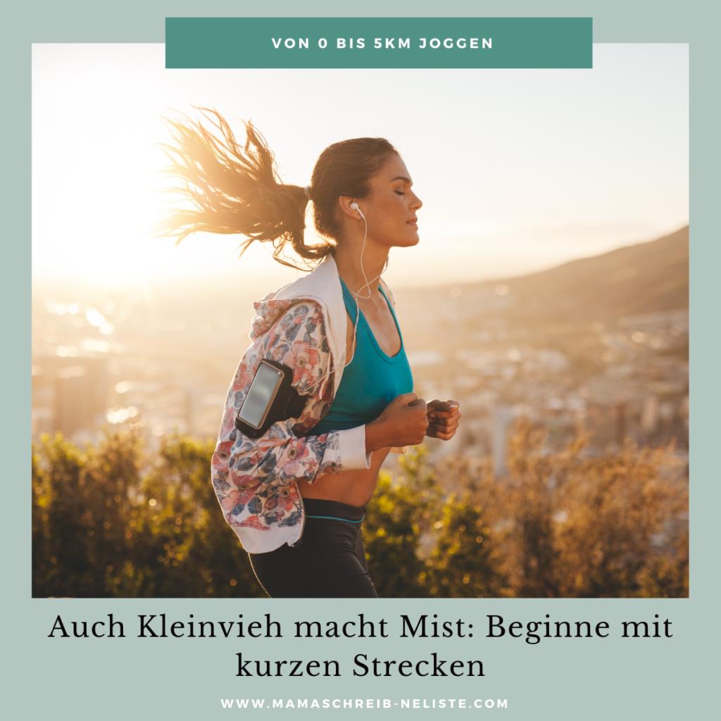 Kleine Strecken laufen, 1km, 2km, 3km, 4km, 5km - so joggen die Profis