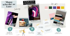 8 Tipps - so bleibt der Schulranzen organisiert! Scout Moodboard, Organisation, Motivation, Mama Tipps, Hacks