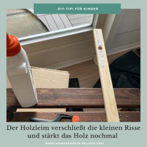 mit Holzleim risse reparieren
