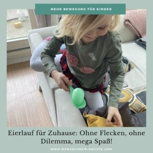 Eierlauf Zuhause, Eier, Löffel, JAKO-O Set, Bewegungsset  Bewegung für Kinder