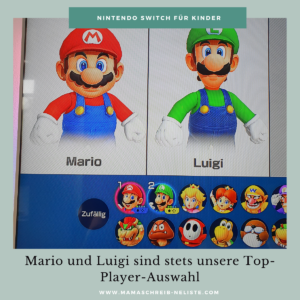 Mama schreibt 'ne Liste Nintendo Switch Spiele im Familientest RingFit Mario luigi Spielerauswahl