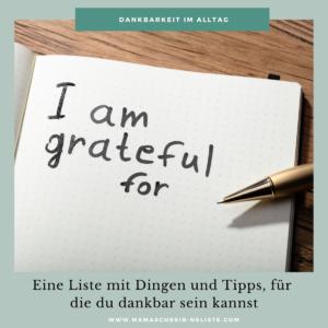 Na? Manchmal ist es echt schwierig auszudrücken wofür man dankbar ist. Deshalb stelle ich dir hier eine kurze Liste vor, mit Dingen für die man durchaus dankbar sein kann.