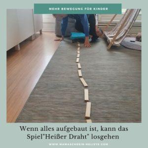 Bewegung kinder spiele heißer Draht Rollbrett