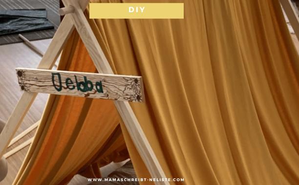DIY-Tipi für Kinder selber bauen – platzsparend & aufklappbar (mit Video)