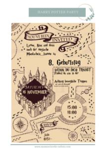 marauders map einladung