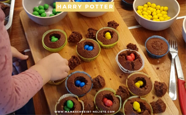 24 Harry Potter Muffins – Die Häuser-Wahl vom sprechenden Hut