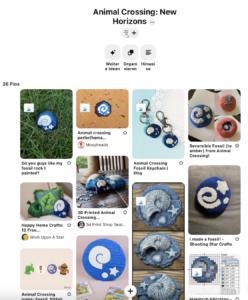 Ich habe auf einem Pinterest Board alle Animal Crossing Fossilien Bastelideen für Kinder zusammengefasst und freue mich, dass du dich hier ebenfalls inspirieren lassen kannst: