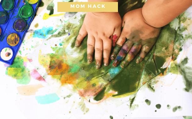 5 Ideen wie du alle Kinder-Kunstwerke platzsparend ausstellst!