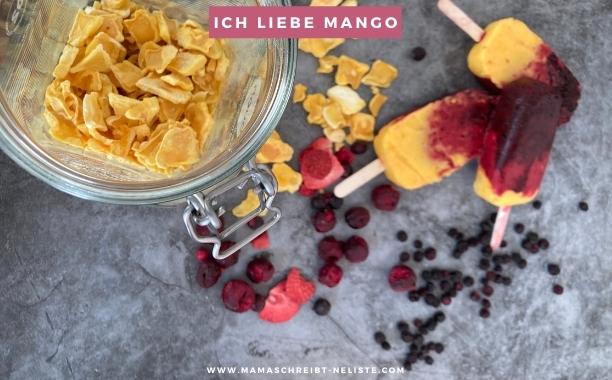 richtig lecker, buah Smoothie eis zur em, Gruppenphase, Mango, Himbeeren, Blaubeeren