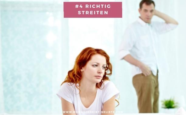 """Eltern paar bleiben #4 Richtig streiten: Jeder streitet natürlich anders. Wir haben sowohl Phasen, wo die Fetzen fliegen, aber auch Phasen, bei denen man merkt, dass sich irgendeine Emotion (Wut oder Enttäuschung) anstaut und man die dann bespricht (mal lauter, mal leiser). """"Im ersten Jahr wird der Samen für spätere Trennungen gelegt"""", hat Barbara Reichle, ehemalige Professorin für Entwicklungspsychologie an der Pädagogischen Hochschule Ludwigsburg, festgestellt. """"Wer in dieser Zeit nicht lernt, konstruktiv miteinander umzugehen und den Alltag zu bewältigen, riskiert die Beziehung."""""""