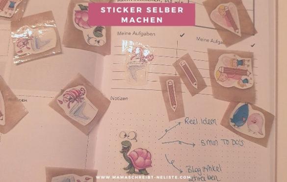 Mama schreibt 'ne Liste Sticker selber machen